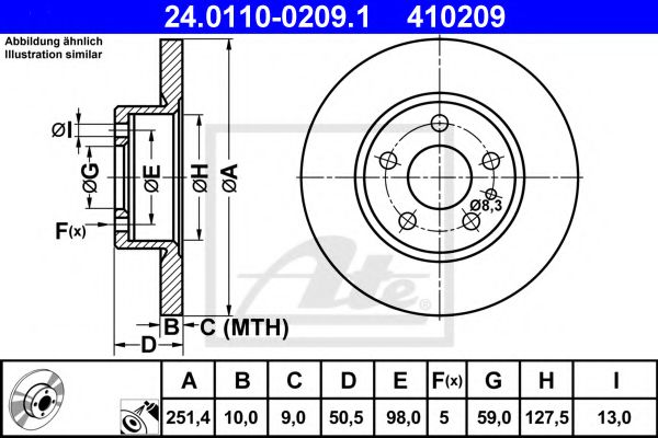 Тормозной диск  арт. 24011002091