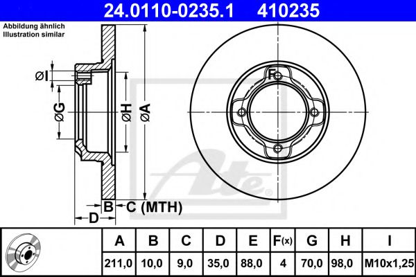 Тормозной диск  арт. 24011002351