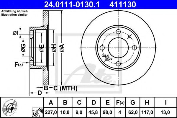 Тормозной диск  арт. 24011101301