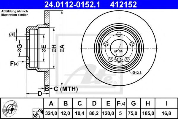 Тормозной диск ATE 24011201521