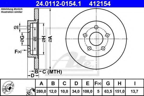 Тормозной диск  арт. 24011201541