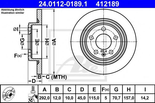 Тормозной диск  арт. 24011201891