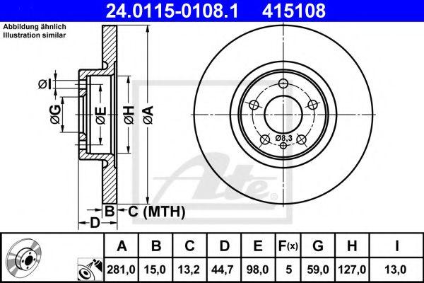 Тормозной диск  арт. 24011501081