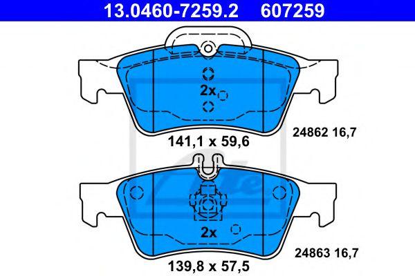 Гальмівні колодки, дискові ATE 13046072592