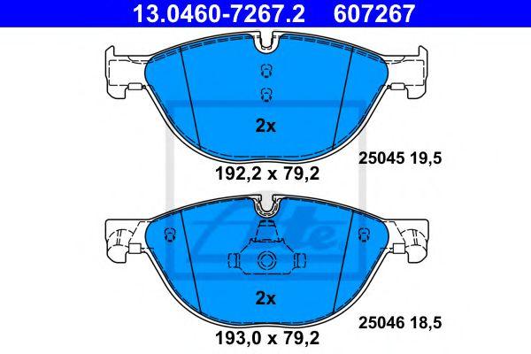 Гальмівні колодки, дискові ATE 13046072672