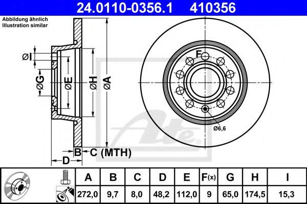 Тормозной диск ATE 24011003561