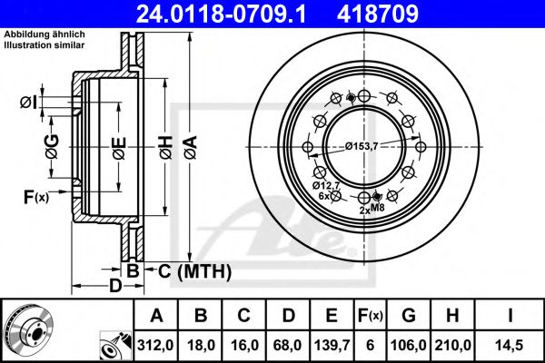 Тормозной диск ATE 24011807091
