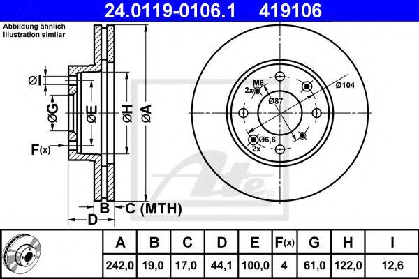 Тормозной диск  арт. 24011901061