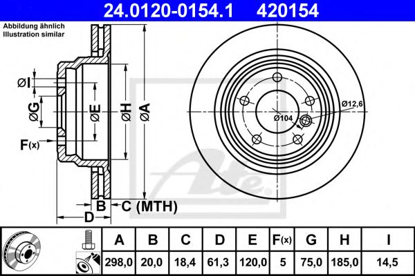Тормозной диск ATE 24012001541