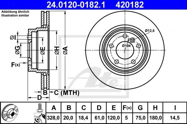 Тормозной диск  арт. 24012001821
