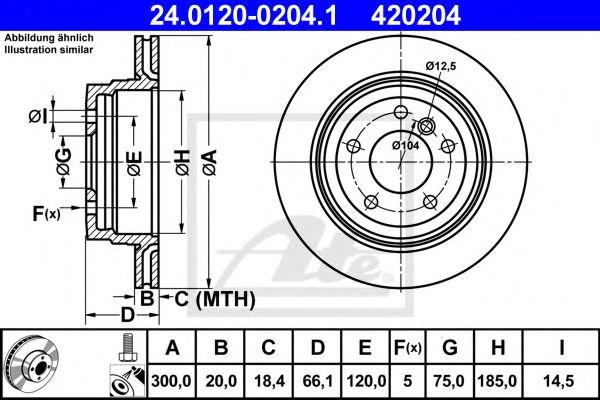Тормозной диск ATE 24012002041