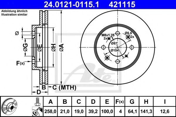 Тормозной диск  арт. 24012101151