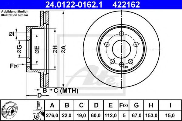 Тормозной диск ATE 24012201621