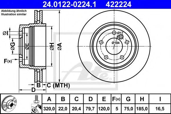 Тормозной диск ATE 24012202241