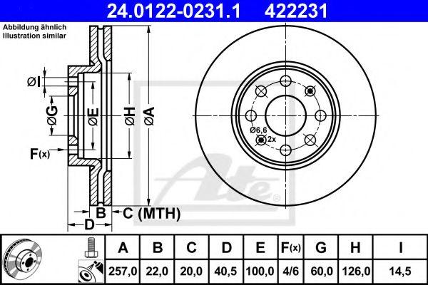 Гальмiвний диск ABE арт. 24012202311