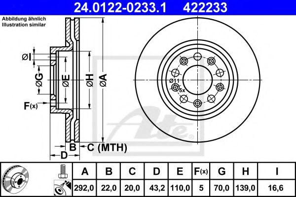 Тормозной диск  арт. 24012202331