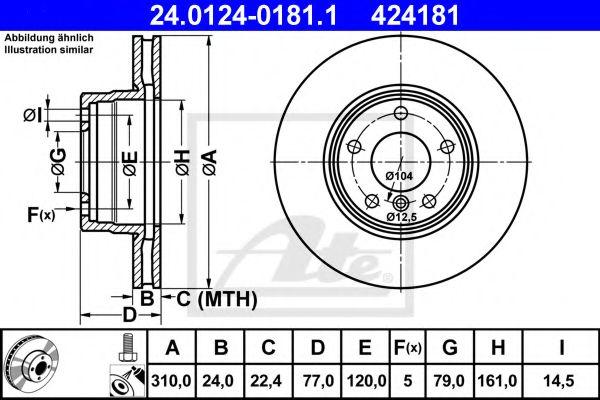Тормозной диск ATE 24012401811