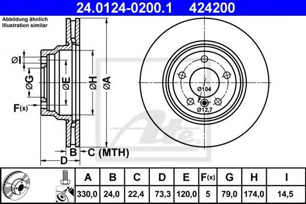 Гальмівний диск  арт. 24012402001