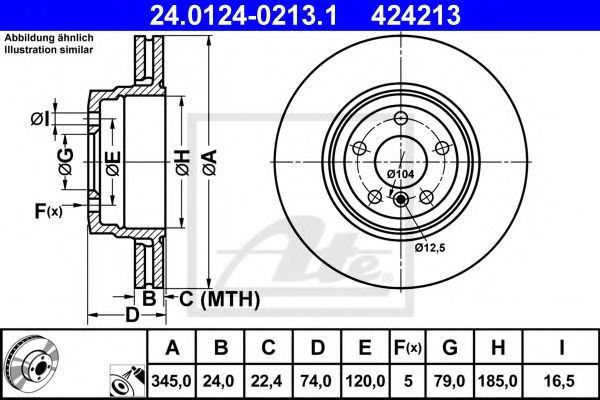 Тормозной диск ATE 24012402131