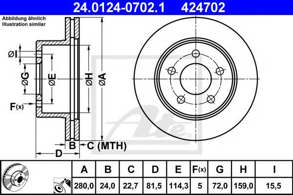 Тормозной диск  арт. 24012407021