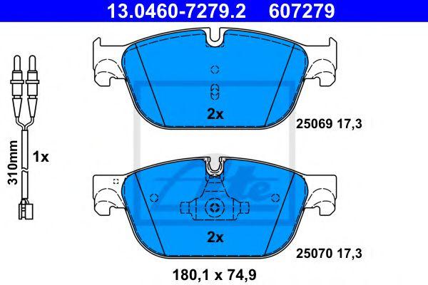 Гальмівні колодки, дискові ATE 13046072792