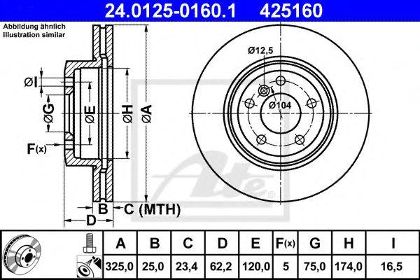 Тормозной диск ATE 24012501601
