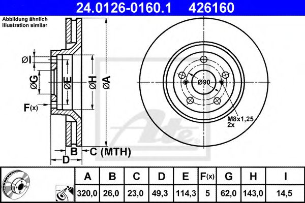 Диск тормозной ATE 24012601601