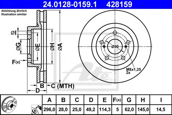 Тормозной диск ATE 24012801591