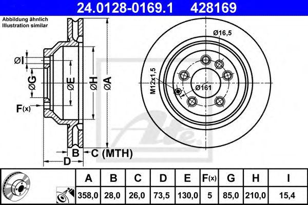 Тормозной диск ATE 24012801691