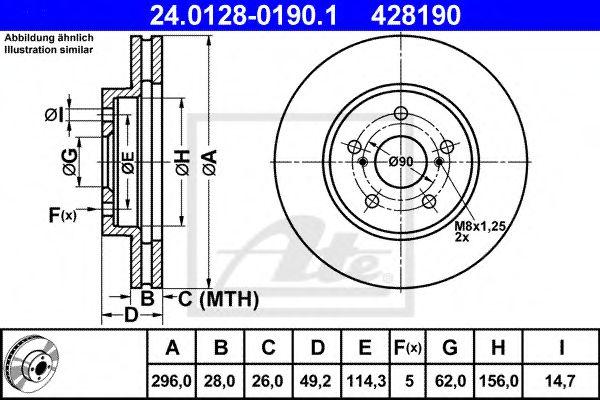 Тормозной диск ATE 24012801901