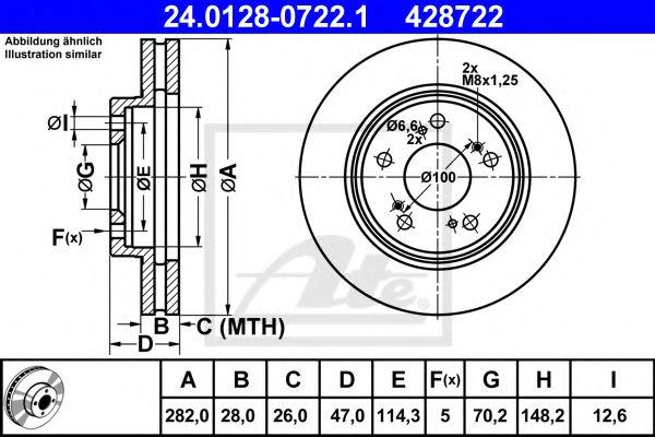 Гальмівний диск  арт. 24012807221