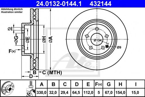 Тормозной диск ATE 24013201441
