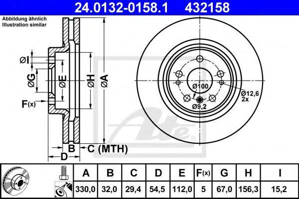 Тормозной диск ATE 24013201581