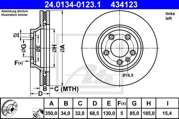 Тормозной диск ATE 24013401231