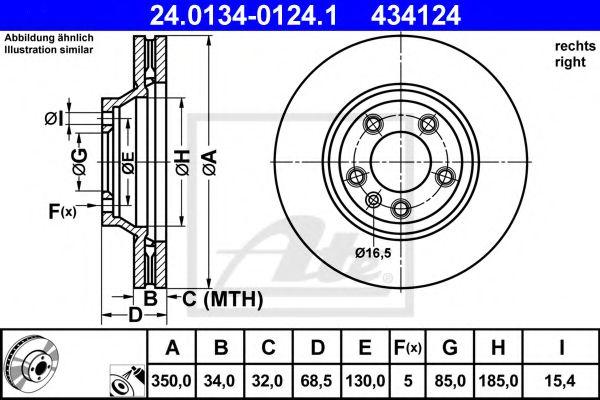 Тормозной диск ATE 24013401241