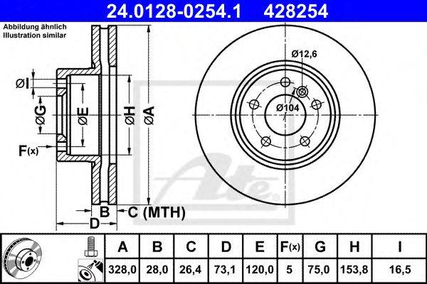 Гальмівний диск  арт. 24012802541