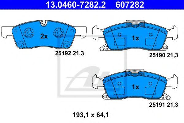 Гальмівні колодки, дискові ATE 13046072822