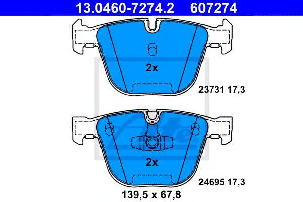 Гальмівні колодки, дискові ATE 13046072742