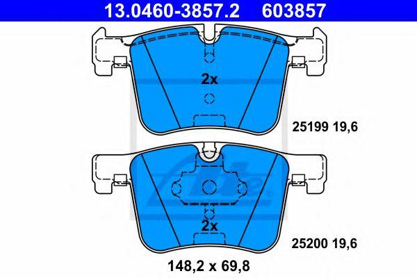 Гальмівні колодки, дискові ATE 13046038572