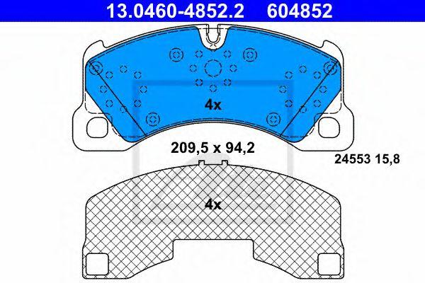 Гальмівні колодки, дискові ATE 13046048522