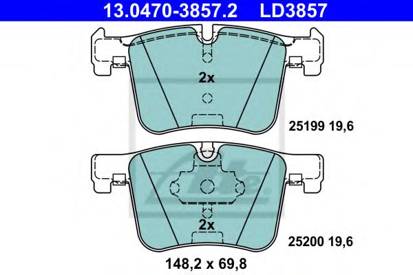 Гальмівні колодки, дискові  арт. 13047038572