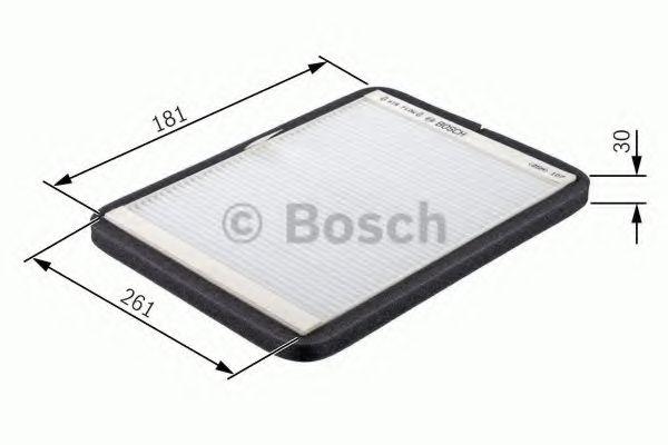 BOSCH M2013 Фильтр салона VW Passat  88-97 (181*30*261) BOSCH 1987432013