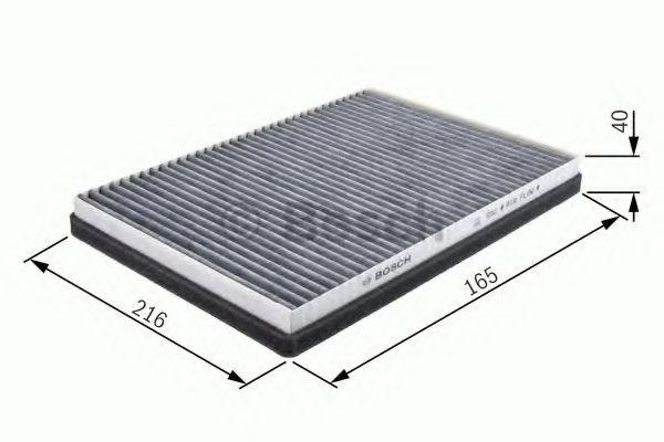 BOSCH (LV) R2435 фильтр салона (уголь) ВАЗ 2110 03-. BOSCH 1987432435