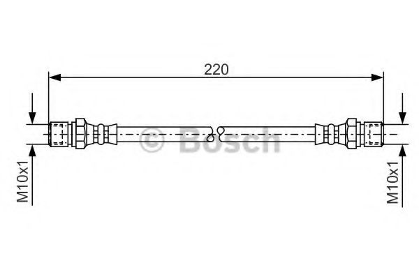 Шланг тормозной DAEWOO LANOS задн. (пр-во Bosch)                                                      арт. 1987476090