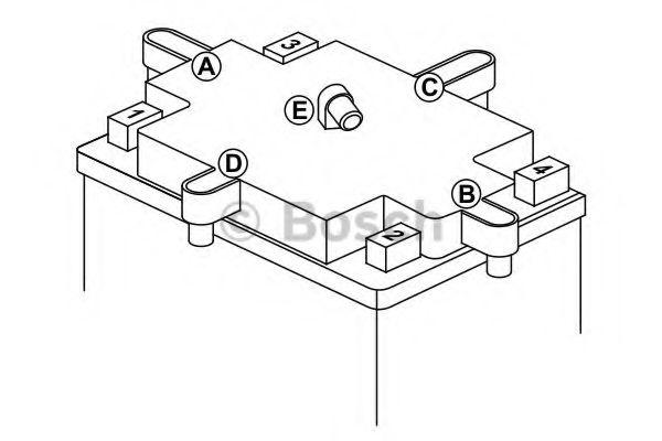 12V 8Ah,д. 150, ш. 70, в.105, электролит в к-те, вес 3,5 кг BOSCH 0092M60130