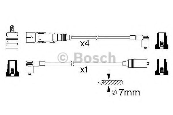 BOSCH  Высоковольтные провода SEAT CORDOBA 1.4I, IBIZA, VW BOSCH 0986356358