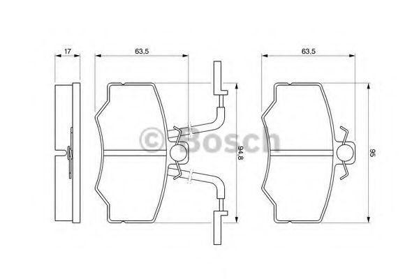 Торм колодки дисковые (пр-во Bosch)                                                                   арт. 0986424184