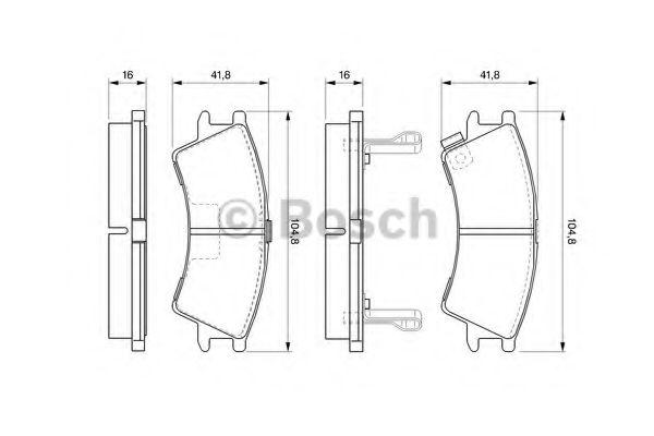 Комплект тормозных колодок, дисковый тормоз  арт. 0986424575