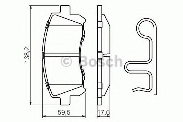 BOSCH  Тормозные колодки пер. Subaru Forester, Impreza, Legacy 98- BOSCH 0986424700