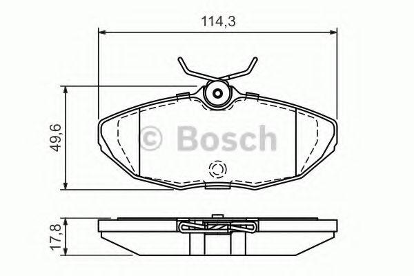BOSCH  тормозные колодки задн.  Jaguar S-Type 02- BOSCH 0986424702